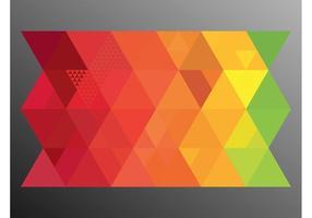 kleurrijke driehoeken