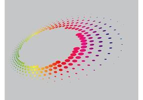 Disposition des points colorés