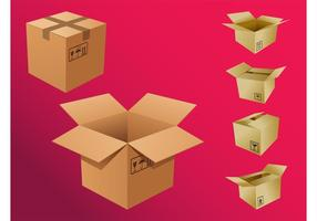 Cajas De Cartón Vectores