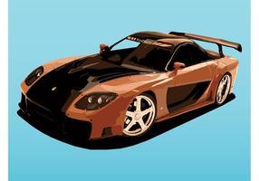 Mazda Sports Car vector