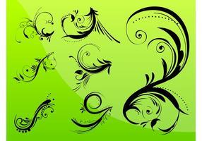 Diseños florales de los remolinos