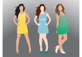 Modellerende meisjes