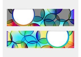 Kleurrijke Bubbels Banners