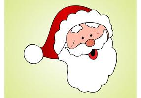 Santa Head Cartoon