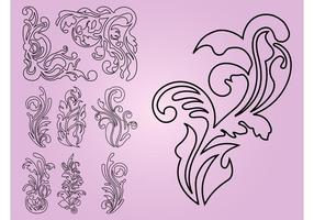 Flowers Outlines