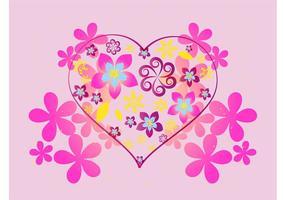 Floral Heart Gráficos