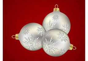 Bolas De Plata De Navidad