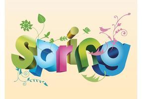 Spring-text-art-3d