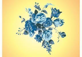 Retro Bloemen Vector