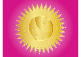 Ícone dourado do sol