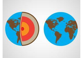 Vecteur terre planète