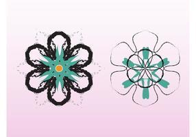 Grunge blomma vektorer