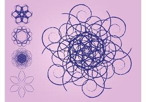 Gekritzel-Blumen