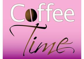 Vetor do tempo do café
