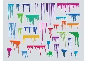 Gouttes colorées