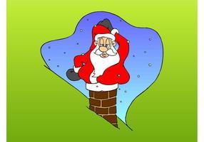 Santa i skorstenen