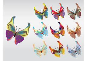 Vector de mariposas de colores