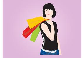 Mulher de compras