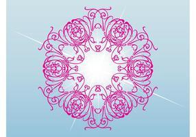 Roze Bloem Vector
