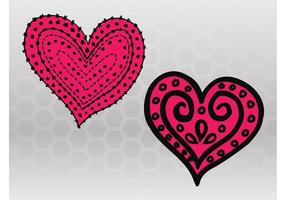 Esboços de coração