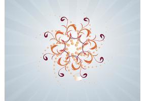 Swirling Flower Decoration