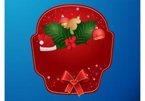 Vector de etiqueta de Natal