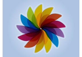 Rainbow Flower Design