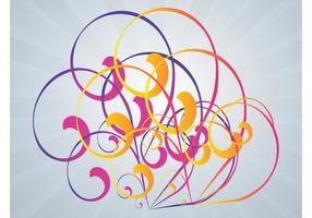 Colorido Remolinos Vector Art