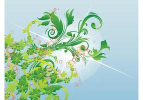 Spring Swirls Vector