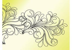 Clip art tourbillon de fleurs