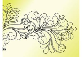 Blumen-Strudel-Klipp-Kunst