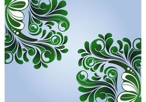 Spring Swirls Vector Graphics