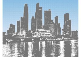 Paisaje urbano gráficos vectoriales