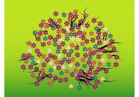 Design floral de printemps