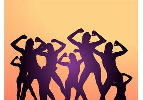 Tanzende Party Leute