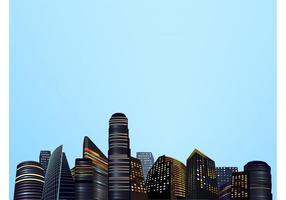 Große Stadt Vektorgrafiken