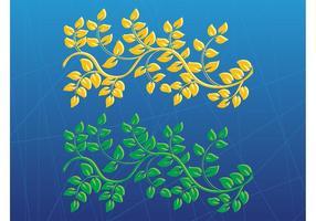 Vectores de plantas estilizadas