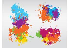 Diseño colorido de las salpicaduras