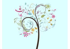 Vår träd vektor