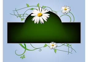 Étiquette de fleurs