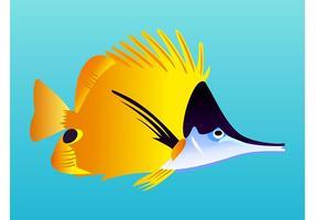 Vector de peixe exótico