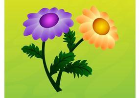 Gráficos vectoriales florales