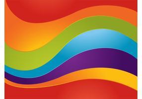 Gekrümmter Regenbogen-Vektor