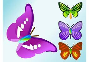 Vetor de borboletas