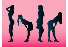 Mädchen Silhouetten Stock Vektoren