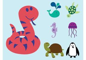 Animales de la historieta del vector