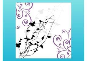 Tarjeta de las mariposas