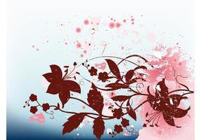 Splatter floral