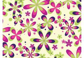 Färgglatt blommönster