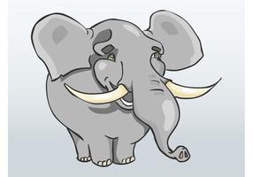 Vecteur d'éléphant